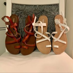 2 pairs of never worn sandals
